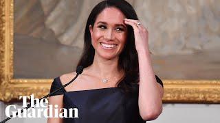 Duchess of Sussex speaks Māori in New Zealand suffrage speech