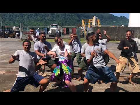 Dancing with National Park of American Samoa employees