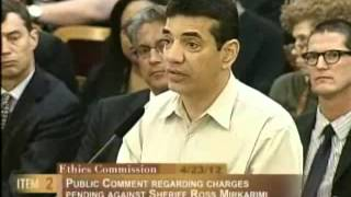Pedro Fernandez, Ethics Commission Sheriff Mirkarimi, April 23, 2012 [Item 2, PC-4]
