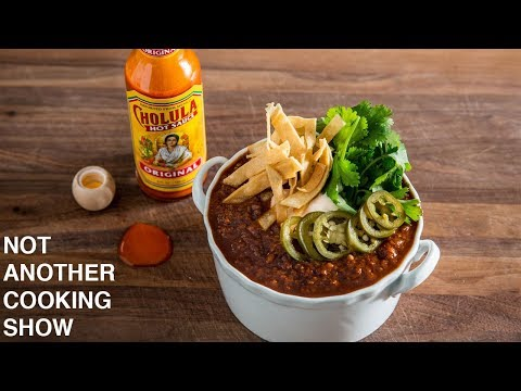WHEAT BEER CHILI WITH MEXICAN CHOCOLATE
