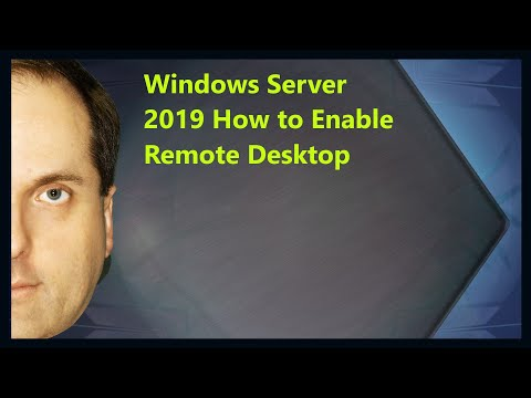 Windows Server 2019 How To Enable Remote Desktop