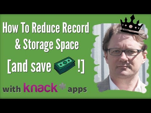 Reduce Record & Storage Space in Your Knack App