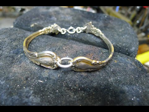 How to make a bangle / bracelet from used silver spoons (no soldering)