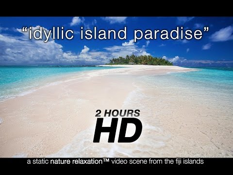 2 Hour Paradise Beach Scene in HD | Nature Relaxation™ Still Video from Fiji Islands