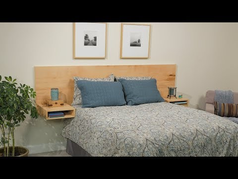 Build a Modern Floating Headboard From One Sheet of Plywood