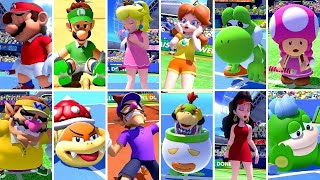 Mario Tennis Aces - All Characters Losing Animations