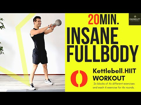 20 minute FULL BODY Kettlebell WORKOUT | HOME WORKOUT | HIIT Home Workout | Strength Cardio Workout