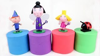 Ben and Holly Kinetic Sand Learn Colors with Ben and Holly Kinetic Sand and Play Doh