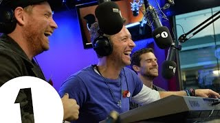 Coldplay sing three very boring songs
