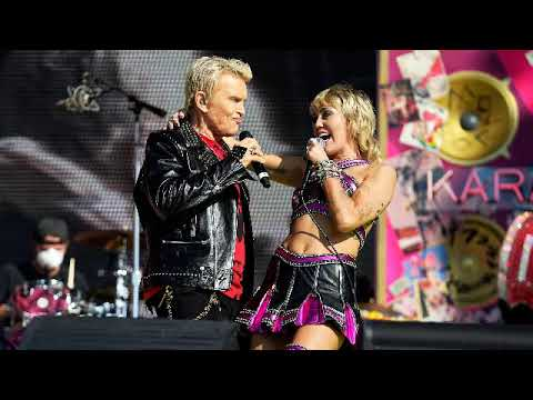 Miley Cyrus rocks out with Billy Idol and Joan Jett in Super Bowl ...
