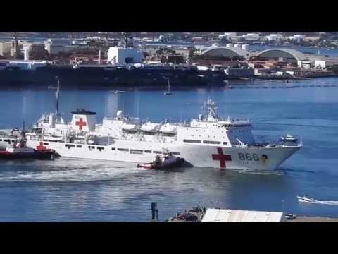 PLANS AH 866 Chinese hospital ship Peace Ark departs San Diego