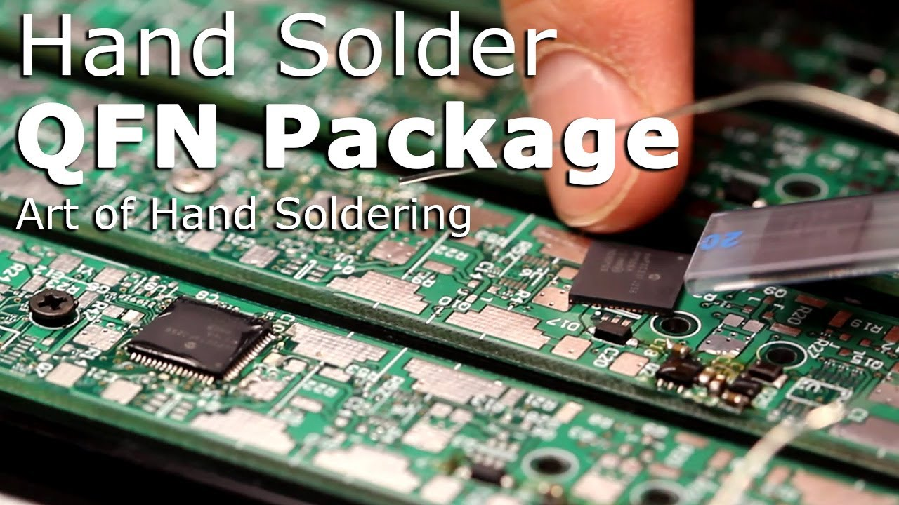 How to solder QFN package surface mount IC by hand
