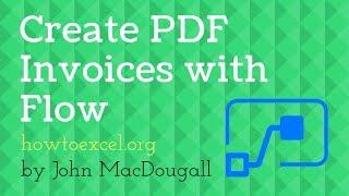 خلق دينامية الفاتورة PDF القالب مع Microsoft تدفق