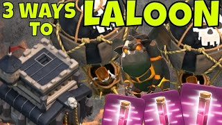 3 WAYS TO LALOON @ Th9 [Advance Air Strategy] Clash Of Clans