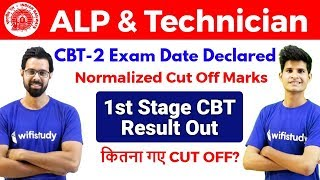 RRB ALP & Technician CBT-1 Result & Cut Off Out | CBT-2 Exam Date Confirmed