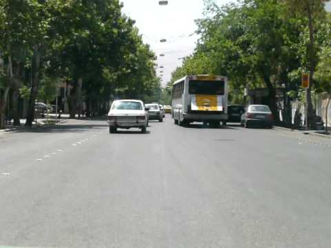 Iran Shiraz traffic Paykan