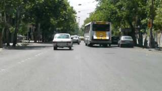 Iran Shiraz traffic Paykan