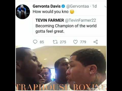 "GERVONTA ""TANK"" DAVIS TROLLS TEVIN FARMER  ON TWITTER!!!"