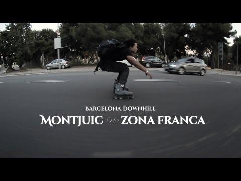 Barcelona downhill inline skating - Montjuic to Zona Franca