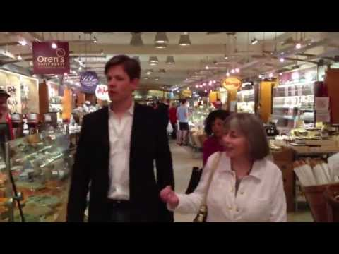 Anne Rice and Christopher Rice in Grand Central Market