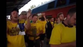 Baník Ostrava vs SFC Opava - příjezd do Ostravy