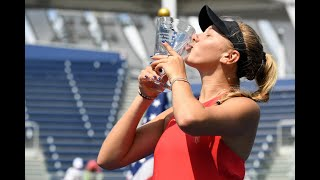 2017 US Open: Winners Walk with Girls' Singles Amanda Anisimova