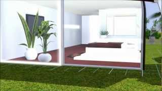 The Sims 3 Modern House, small lot, minimalism. Download in description.