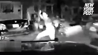 Teen pummeled by police car after resisting arrest