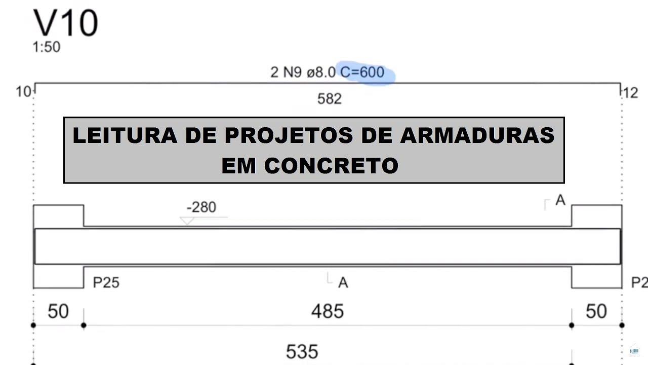 CONCRETO ARMADO | Leitura de projetos de armadura
