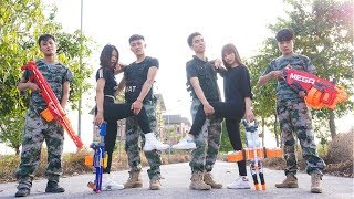 Nerf War: S.W.A.T & Special Combatant Nerf Guns Assassins Group Rescue Lady Nerf movie