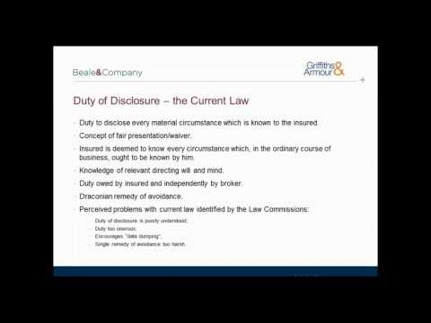 Beale & Company Webinar - Insurance Act 2015 - What does it mean for you as an Insured?