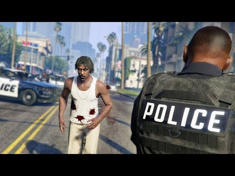 RUNNING FROM THE COPS!   GTA 5 Rapper's Life #2