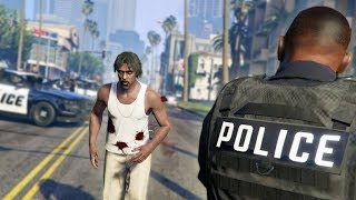 RUNNING FROM THE COPS!   GTA 5 Rapper