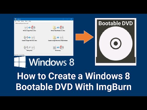 How To Make A Windows 8.1,8,7 Bootable DVD With Imgburn!