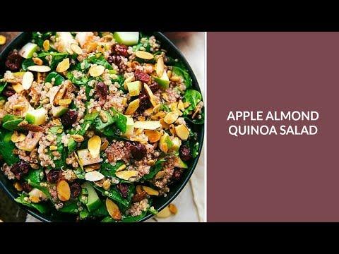 Easy Apple Almond Quinoa Salad