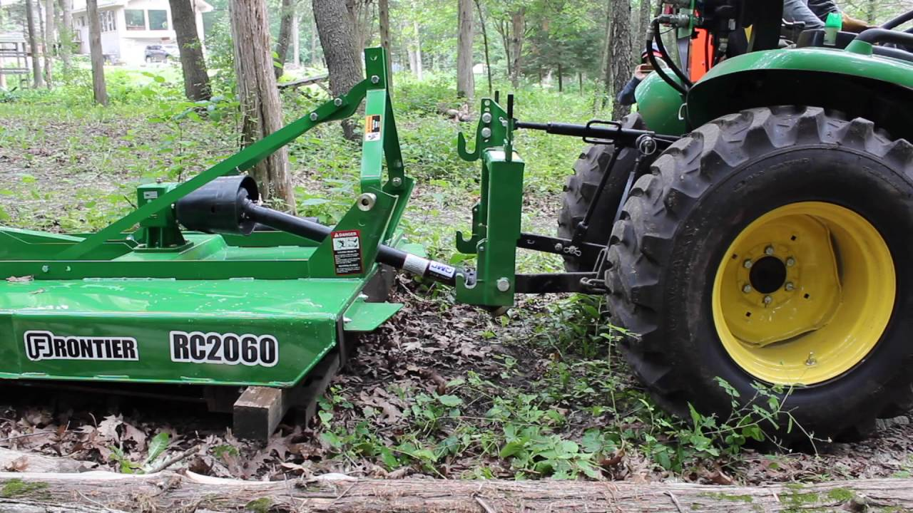 John Deere Frontier Rotary Cutter Brush Hog Part 1