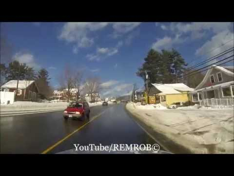 Driving Through North Conway, N.H. In Winter