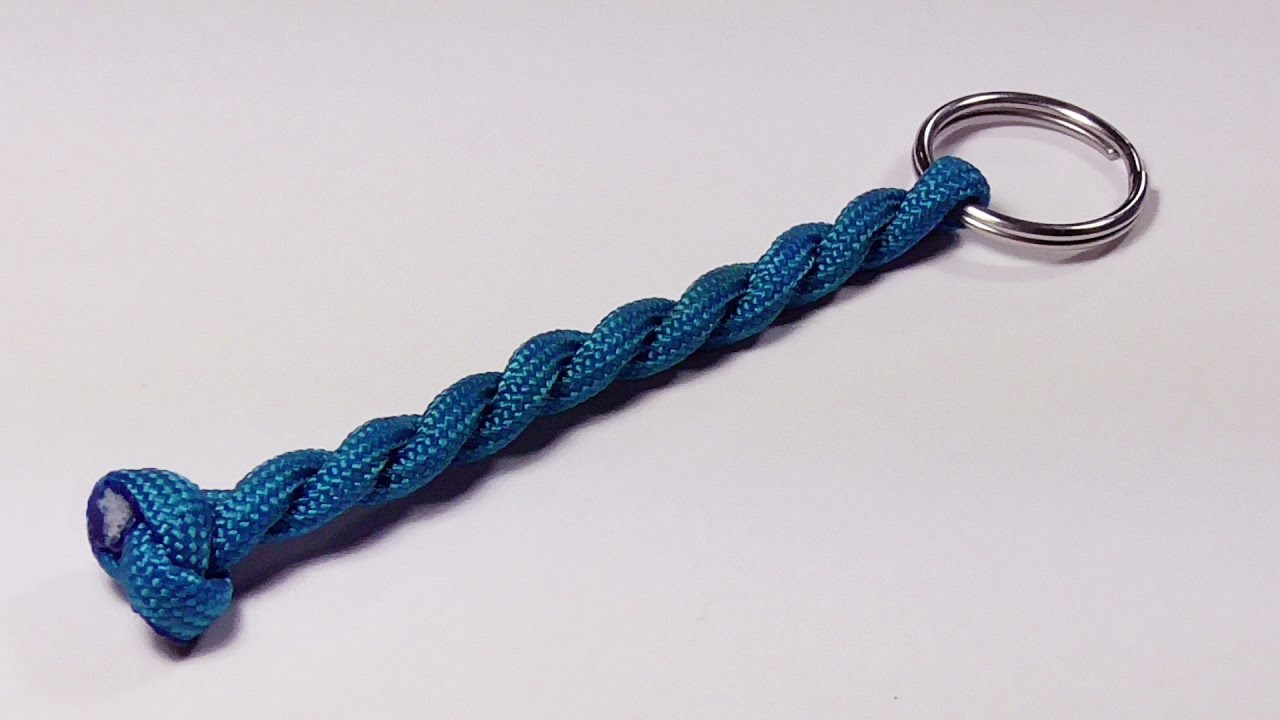 You Can Make A Remarkably Easy 2 Strand Round Braid Keychain