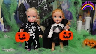 Halloween Trick or Treat Elsa and Anna Haunted House Halloween 2019 PARTY👻🎃🍬