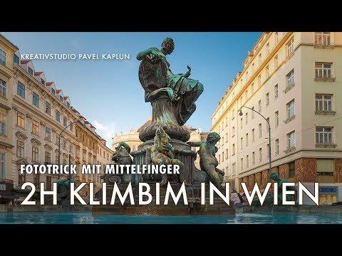 Fototrick mit Mittelfinger - 2h Klimbim in Wien