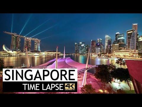 Singapore Time Lapse - Drone View   4K (2017)