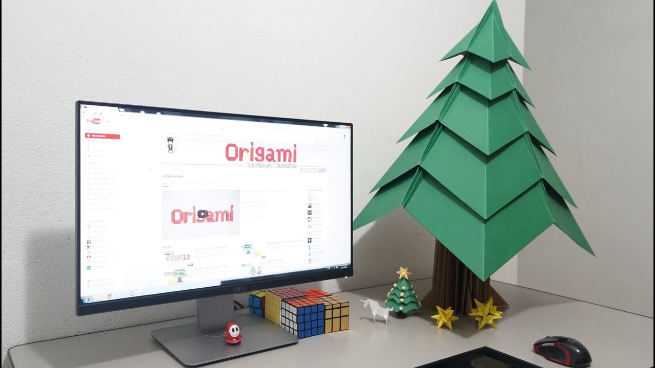 big origami christmas tree timelapse youtube