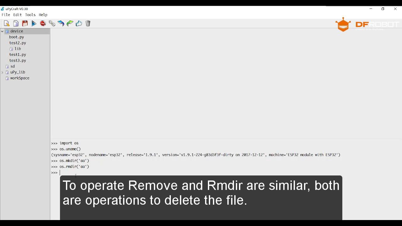 MicroPythonIDE uPyCraft OS Module