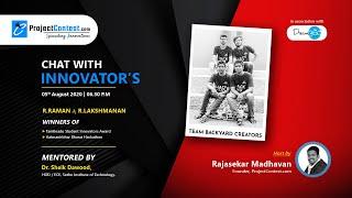 Chat With Innovators I Raman&Lakshman I Winner of TN student Innovator Award& Aatmanirbhar Hackathon