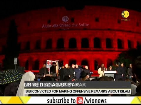 Rome: Colosseum turns red against Pakistan