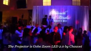 ♪ LED Gobo Projector with Custom Monogram Demo, Wedding Gobo Lighting, Chauvet Gobo Zoom LED 2.0 ♪