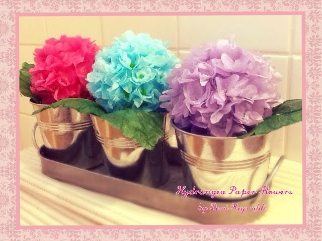 DIY - How to Make Hydrangea Paper Flower - Room, Gift Box, Frame, Ball Decoration Travel Video