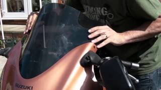 Hayabusa Windscreen / Windshield replacement - Double Bubble challenge - With correct Text