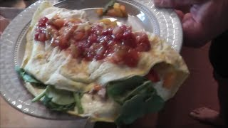 How to Make a Healthy IHOP Chicken Fajita Omelet PRObliner Style!