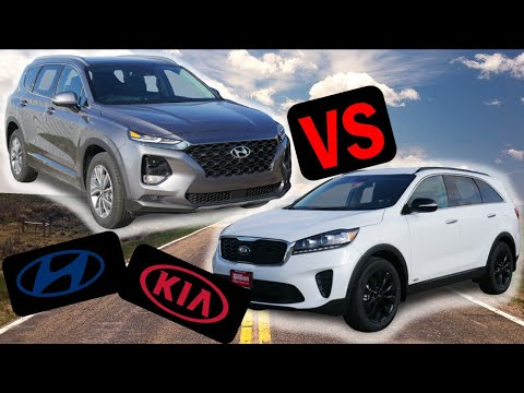 2020 Hyundai Santa Fe Vs 2020 Kia Sorento | What Are The Differences?